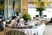 The beautifully restored 1950s dining room at Restaurante Varanda perfectly sets the scene