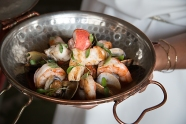 Cataplana is the name for the traditional pot that is used to prepare seafood in Portugal