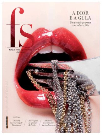 A selection of great cover designs of Fora de Série Magazine